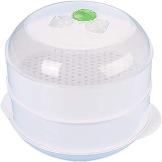 MYA 1Pc Four Micro-ondes En Plastique À Double Couche Cuiseur Vapeur Four À Micro-ondes..