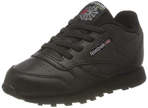 Reebok Classic Leather Sneaker, Core Black/Core Black/Core Black, 26 EU