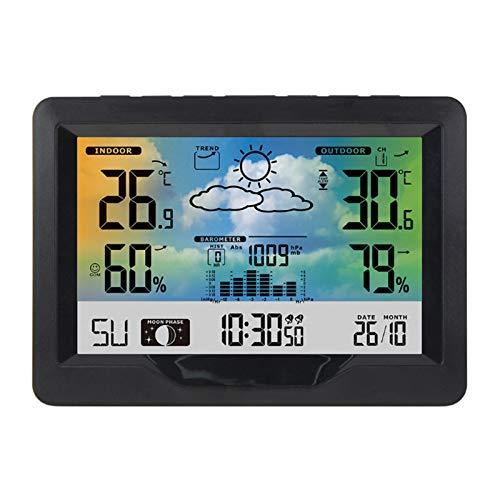 LYY Estación meteorológica inalámbrica con Sensor Exterior, Relojes de Control meteorológico/Alerta de...
