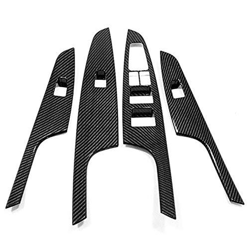 Nrpfell ABS Cromato Porta Finestra Pannello di Vetro Bracciolo Ascensore Interruttore Pulsante Copertura Rivestimento per Tucson 2015-2019 Accessori Auto Ricambi Auto