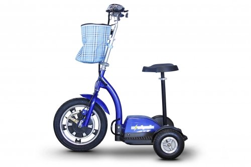 E-Wheels, EW-18 Stand n Ride Scooter 3-Wheel - Blue