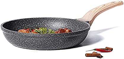 Carote 30cm/3.6L Non-Stick Frying Pan Granite Coating from Switzerland, PFOA Free, Non Toxic, All Stove Induction Gas...