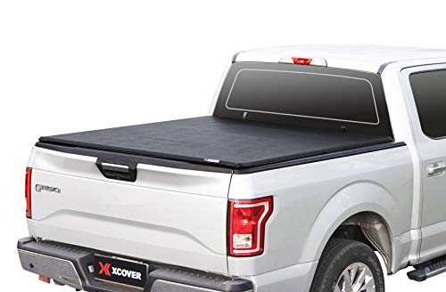 Xcover Soft Locking Roll Up Truck Bed Tonneau Cover, Compatible with 2015-2021 F150 Pickup 5.6 Ft Styleside Bed