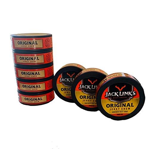Jack Links Original Jerky Chew | Original Flavor Shredded Beef Jerky | .32 oz Cans | Pack of 8