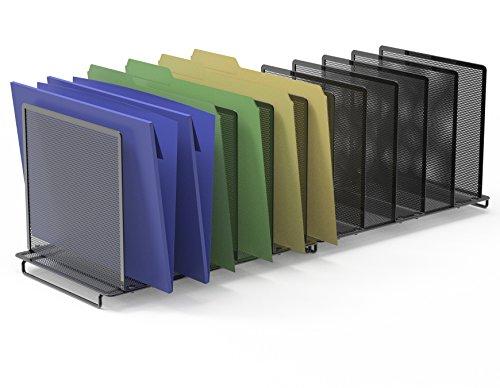 2 Pack- SimpleHouseware 5 Section File Sorter Organizer