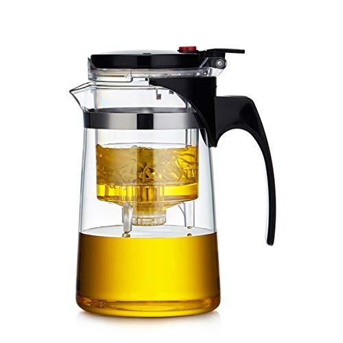 PANGPANGDEDIAN Tetera de Cristal Taza de Vidrio Taza Flotante Grande Tetera Filtro Desmontable Té 600 ml Juego de té