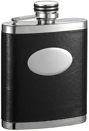 Visol Joey inox Flasque enveloppée de cuir avec plaque à graver, produits Par Visol 7 g