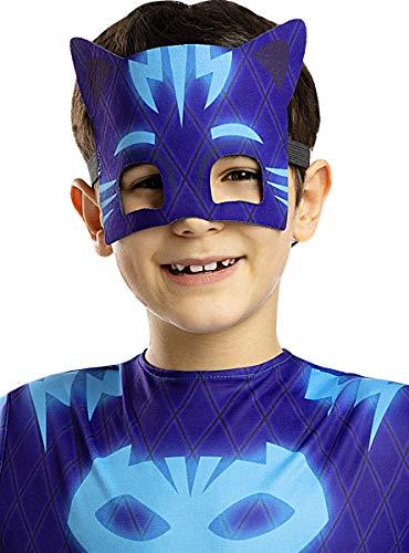 Funidelia | Antifaz Gatuno - PJ Masks Oficial para niño ▶ Dibujos Animados, Gatuno, Buhita, Gekko - Color: Azul, Accesorio para Disfraz - Licencia: 100% Oficial