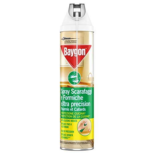 Baygon Spray Con Cannuccia Extra Precision, Insetticida Per La Cucina, Efficace Contro Gli Scarafaggi E Formiche, 1 Confezione Da 400 Ml