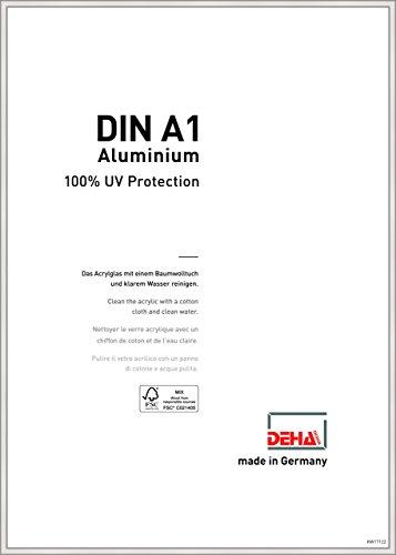 DEHA Aluminium Bilderrahmen Boston, 59,4x84,1 cm (A1), Silber