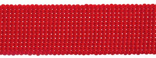 Essentiële Trimmings 30mm Katoen & Acryl Webbing Tape Rode Tape Riem Stof Strap Bag maken Schort Strapping - per 3mtrs
