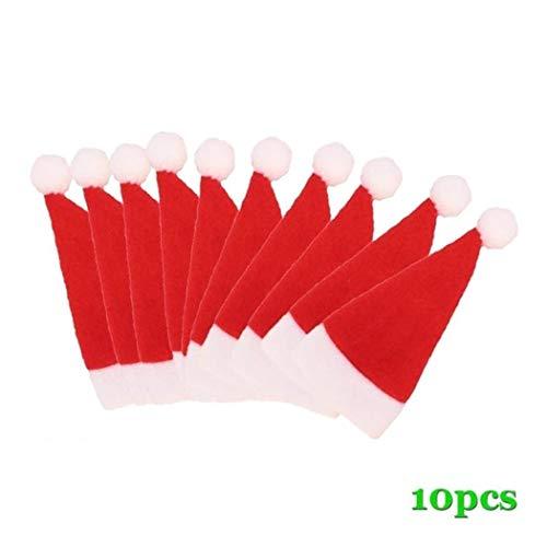 NISELS10 pezzi decorazione a forma di cappello di Natale di forma di cappello di Natale in cartone animato