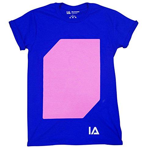 Illuminated Apparel Interaktive Leucht T-Shirt (Blau/Rosa, 12-14 Jahre)