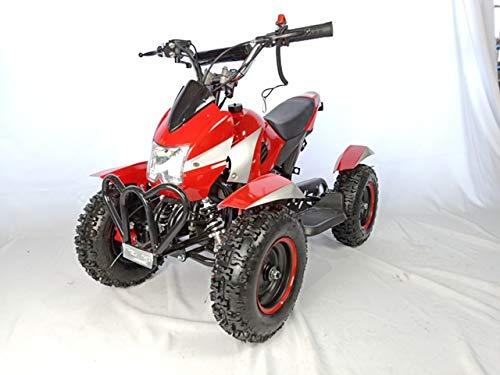 Mini quad de gasolina con motor de 49cc de 2 tiempos -ATV07 COBRA. / Mini quad para niños de 4 a 10 años/miniquad infantil (ROJO)