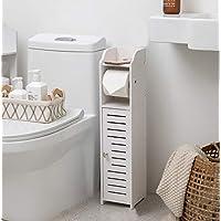 Aojezor Bathroom Chrome Toilet Paper Holder Behind Toilet Storage Cabinet