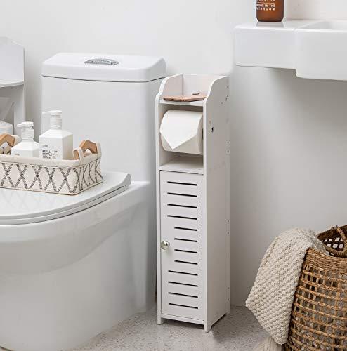 Bathroom Storage Cabinet,Chrome Toilet Paper...
