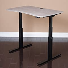 MojoDesk is a beautifully designed and ergonomically correct sit-to-stand desk. Others say it. We prove it. Customers include NASA, 911, FBI Exceeds all commerical testing standards for safety, stability (BIFMA.com) | 5 Year Warranty 3-stage steel te...