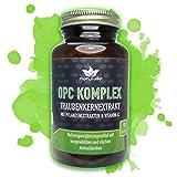 OPC KOMPLEX - einzigartige Formel mit Traubenkernextrakt, Vitamin-C plus 3 starke Antioxidantien - 90 vegane Kapseln im GLAS ohne...