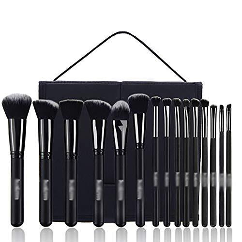Maquillage Pinceaux, Outils De Beauté Pinceaux De Maquillage Professionnel 15Pcs Pinceaux De Maquillage Pinceaux De Maquillage Pour Les Yeux Cosmétiques Pour La Fondation Kabuki Fard À Joues,Noir