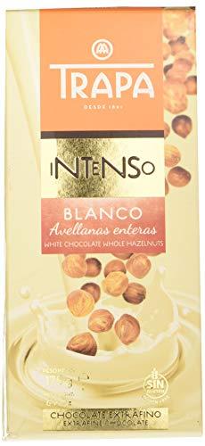 Trapa Intenso - Chocolate Blanco con Avellanas Enteras, 175 g