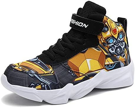 Senco-Girls Toddler Little Kid Cartoon Sport Shoes Big Boys High Top Sneakers for Running Basketball Tennis Hiking