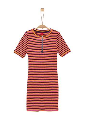 s.Oliver Junior Mädchen 401.10.002.20.200.2021384 Kleid, Orange (23g2 Amber Orange), 164/REG