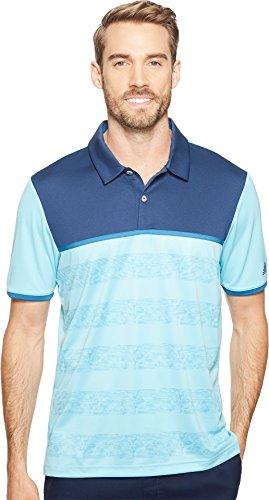 adidas Golf Herren Climacool 2D Camo Streifen Golf Shirt, Herren, Light Aqua