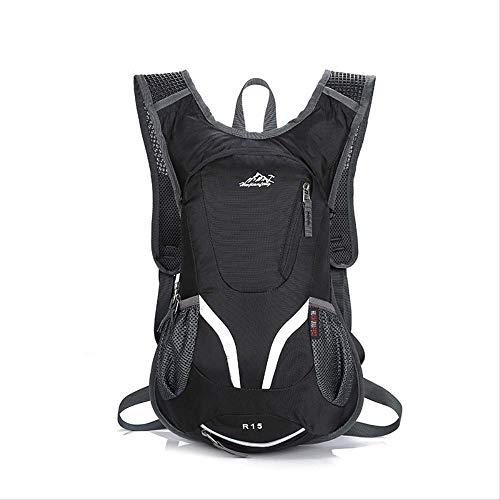 FREEMY Fahrrad-Rucksack (ohne Wasserbeutel) 15 l Fassungsvermögen, Schwarz
