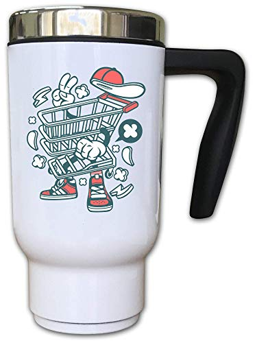 Iprints Cartoon Style Grocery Store Trolley Shop Thermal Tea Coffee Mok