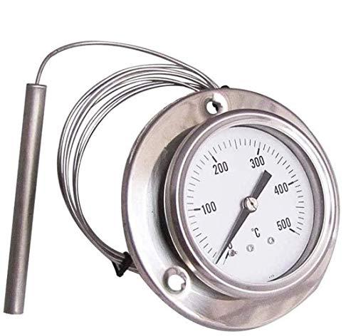 Hezhu 160CM Backofenthermometer mit Edelstahlsonden Hitzebeständig bis 500 ° C für Küche, BBQ
