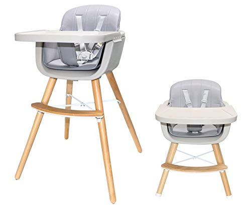 Asunflower Wooden High Chair 3 In 1 Convertible Modern Highchair Solution With Cushion Adjustable Highchair For Babies And Toddlers Buy Online In Czech Republic Asunflower Products In Czech Republic