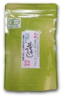 宮崎茶房(有機JAS認定、無農薬栽培)、有機釜炒り茶、緑茶(ティーバッグ) 5g×20、