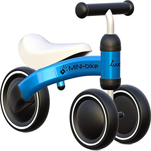 LHY Baby Balance Bikes Toys for 1 Year Old Boys Girls Gift First Birthday, Montar en Bicicleta Niños Walker por 10-24 Meses Sin Pedal Infantil 3 Ruedas,Azul
