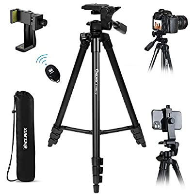 """Endurax Camera Tripod 60"""" for Canon Nikon Phone DSLR Tripods Stand with Universal Phone Mount & Remote Shutter Max Load 6.6 lb by"""