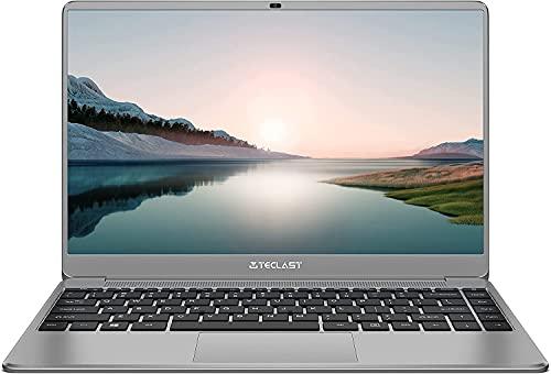 TECLAST F7 Plus 3 Ordinateur Portable 14,1 Pouces Ultra Slim Notebook, 8Go RAM 256Go SSD, Windows 10 Quad Core PC, 1920x1080FHD, Intel N4120 Turbo 2,6GHz, 45.6Wh, USB 3.0, Mini-HDMI, TF, 1.3Kg (2021)