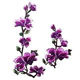 Bien diseñado patrón de flores de vida como remiendo del bordado de bricolaje...