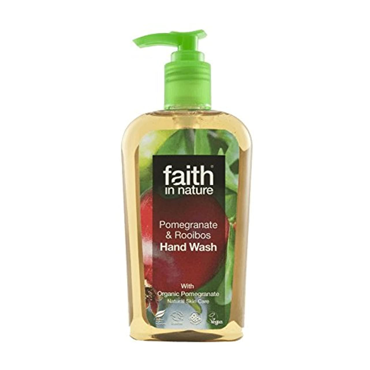 モトリー侵略合理的Faith In Nature Pomegranate & Rooibos Handwash 300ml (Pack of 6) - 自然ザクロ&ルイボス手洗いの300ミリリットルの信仰 (x6) [並行輸入品]