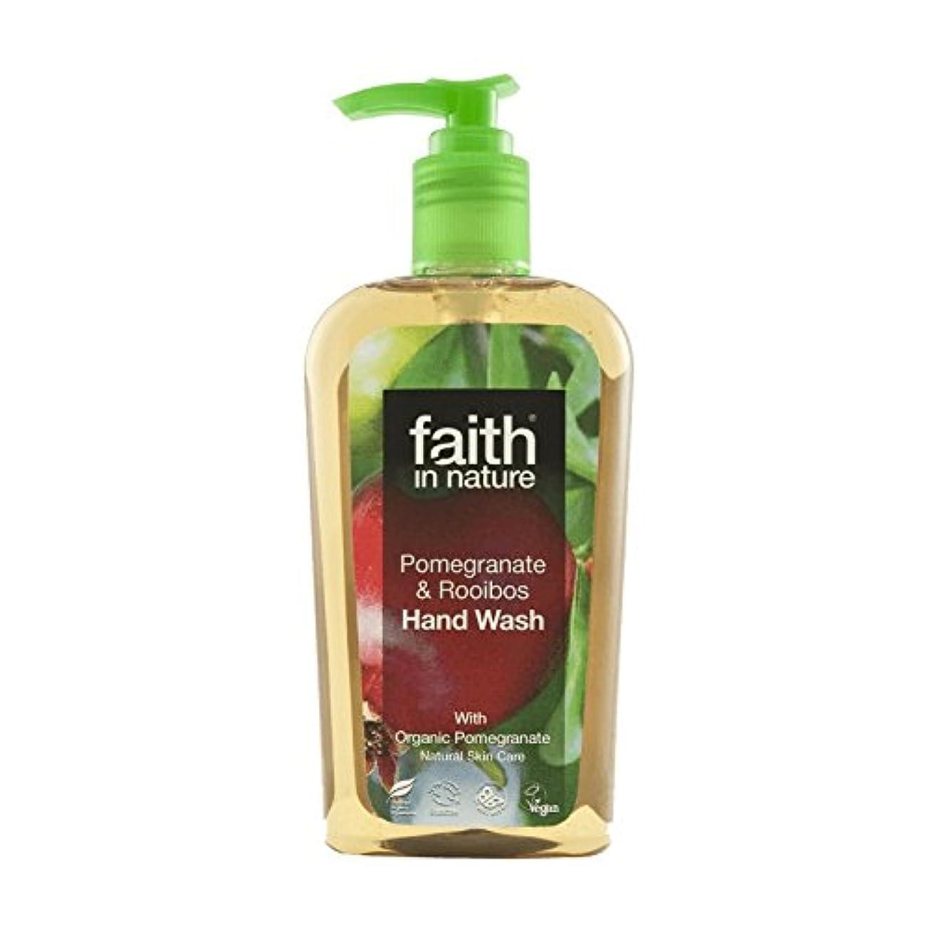 コンパクトファッション減少Faith In Nature Pomegranate & Rooibos Handwash 300ml (Pack of 2) - 自然ザクロ&ルイボス手洗いの300ミリリットルの信仰 (x2) [並行輸入品]