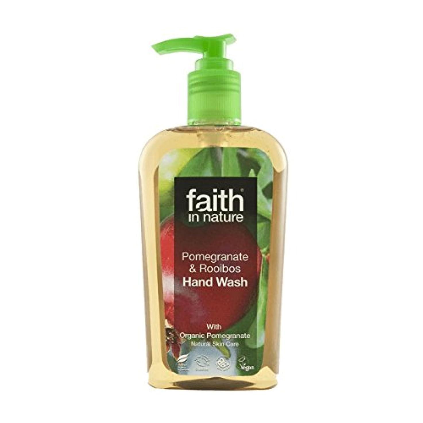 さようならバンジョーたるみFaith In Nature Pomegranate & Rooibos Handwash 300ml (Pack of 6) - 自然ザクロ&ルイボス手洗いの300ミリリットルの信仰 (x6) [並行輸入品]