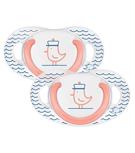bébé confort Set de 2 Sucettes Natural Physio en Latex Marine 6/18 Mois