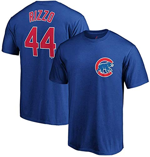 Outerstuff Anthony Rizzo Chicago Cubs MLB Majestic Boys Youth 8-20 Blue Official Player Name & Number T-Shirt (Youth X-Large 18-20)