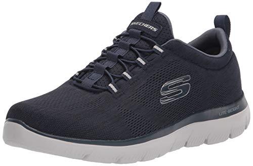 SKECHERS 232186 Summits LOUVIN Zapatillas sin Cordones de Espuma viscoelástica Azules