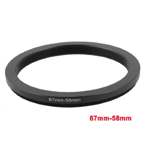 SODIAL(R) 67mm-58mm 67mm a 58mm Adaptador de anillo step-down Negro para Canon Nikon