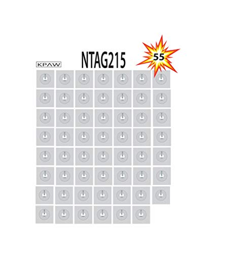 55 x NTAG215 NFC Stickers   White 25mm(1 inch) NFC NTAG215   Compatible with TagMo & Amiibo & All NFC Enabled Smartphones & Devices