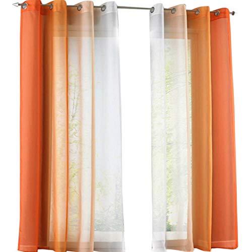 cortinas comedor naranjas