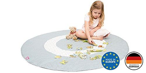 Spielmatte / Spielteppich für Baby & Kinder - Rund, Groß & Weich gepolstert - Ideal fürs Kinderzimmer - Schadstofffreie Kindermatte und Krabbeldecke für Mädchen & Junge (Tipi)