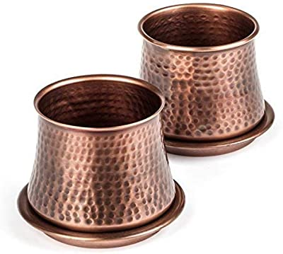 H Potter Succulent Planter Plant Pots Small Flower Cactus Planters 4 Inch Wide 3 Inch High Indoor Container for Planting with Drainage Tray