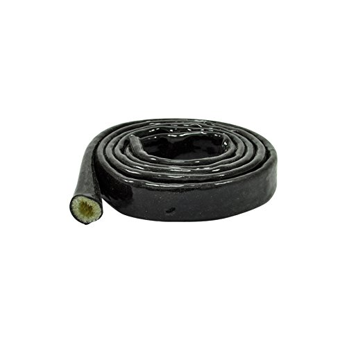 1m Hitzeschutz Schlauch 10mm ID AN6 Silikon Fiberglas Kabelschutz Scheuerschutz