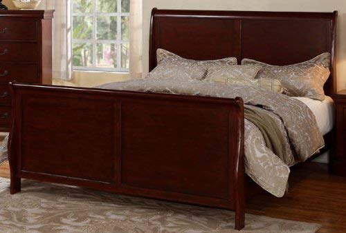 Poundex E.King Bed, Brown