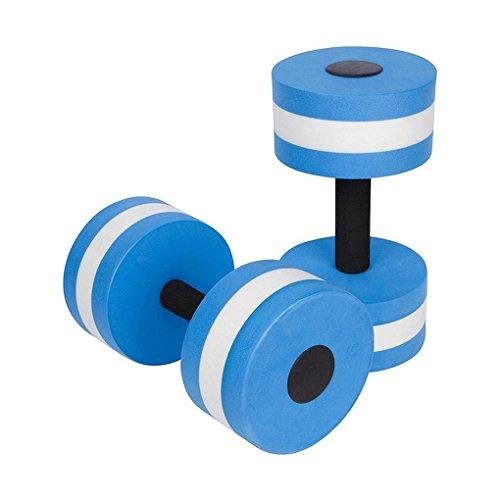 Elenxs 1 par de mancuernas elásticas para aeróbicos de agua EVA para fitness, natación, yoga